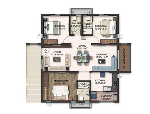 Gem Nakshatra, Hyderabad - Floor Plan
