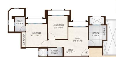 One Hiranandani Park Cloverdale, Thane - Floor Plan