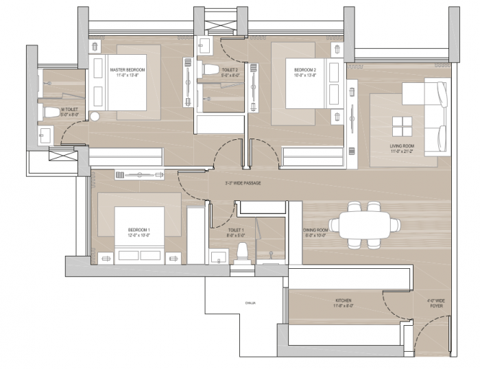 Oberoi Sky City, Mumbai - Floor Plan