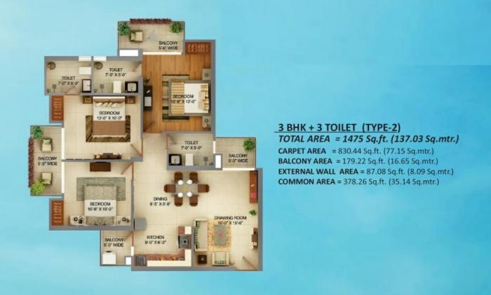 Palm Marina Suites, Ghaziabad - Floor Plan