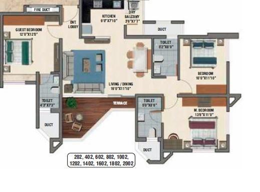 Naiknavare Avon Vista, Pune - Floor Plan