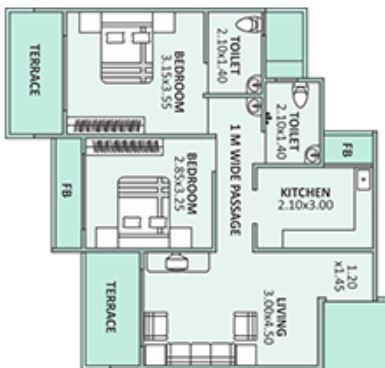 Om Shivam Apartment, NaviMumbai - Floor Plan