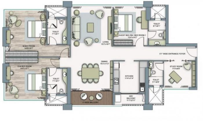 Piramal Aranya, Mumbai - Floor Plan