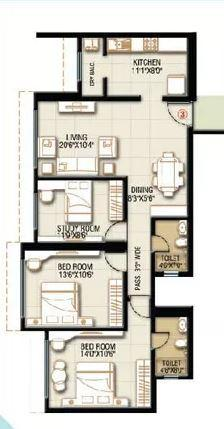 HDIL Whispering Towers, Mumbai - Floor Plan