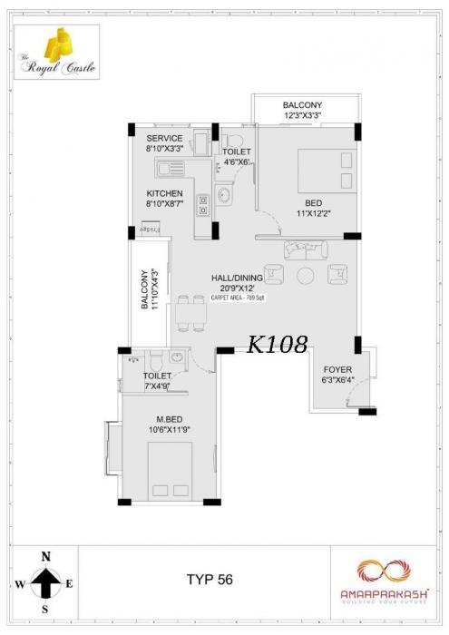 Amarprakash The Royal Castle, Chennai - Floor Plan