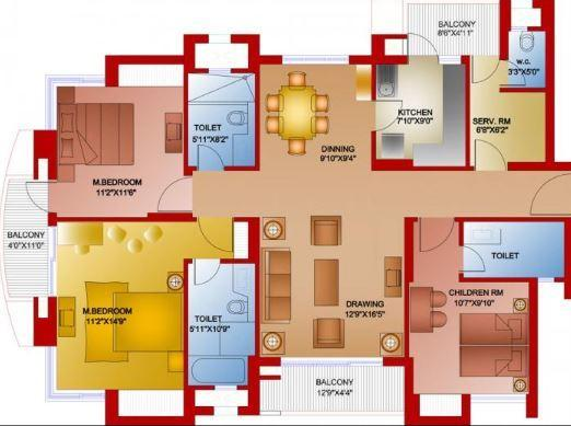 Parsvnath Privilege Phase III, GreaterNoida - Floor Plan