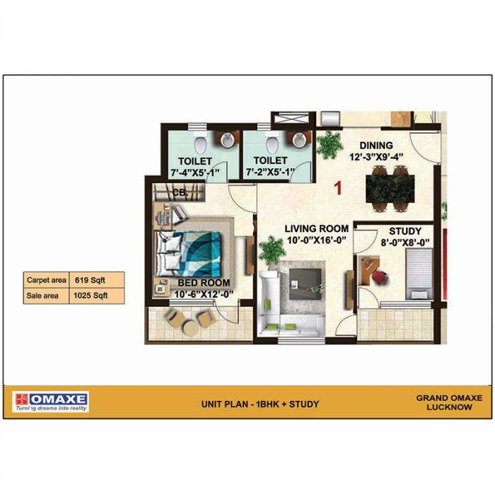 Grand Omaxe, Lucknow - Floor Plan