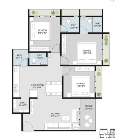 Bhavya Royal Homes, Ahmedabad - Floor Plan