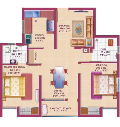 Deccan Apurva, Chennai - Floor Plan