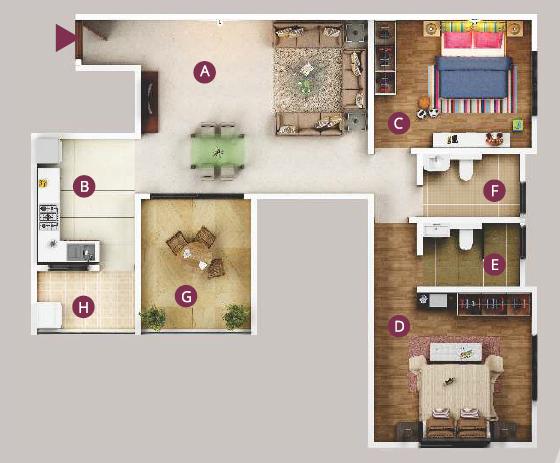 Gera Affinia, Pune - Floor Plan