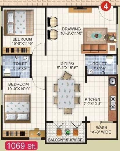 Chethana Maple, Bangalore - Floor Plan
