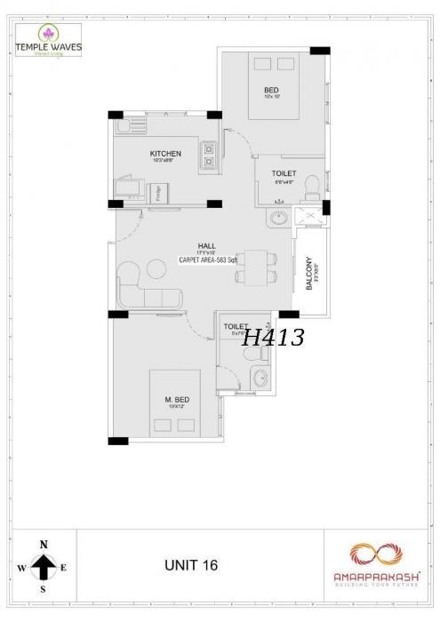 Amarprakash Temple Waves, Chennai - Floor Plan