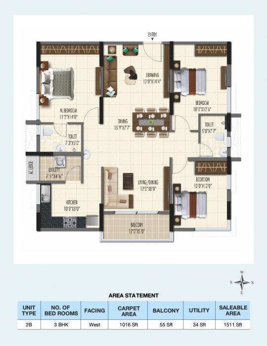 Ramky One Galaxiz Phase 2, Hyderabad - Floor Plan