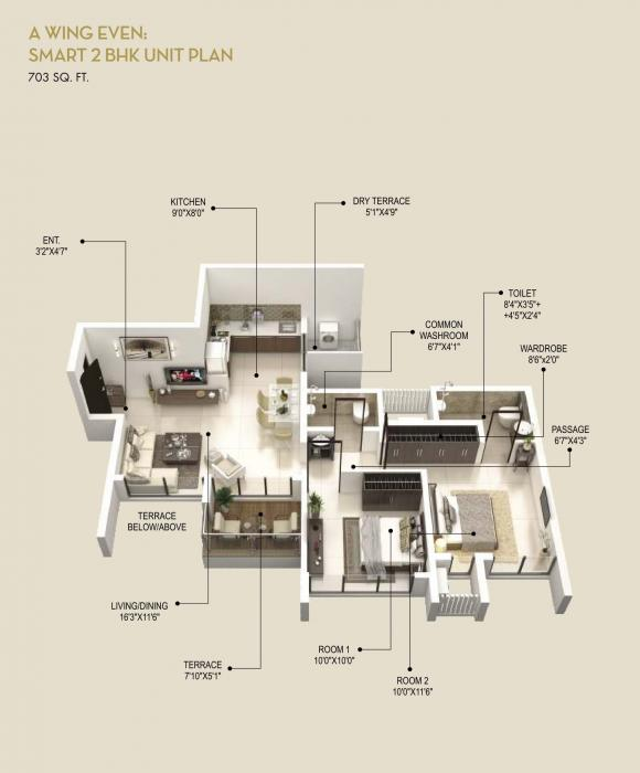 Runal Gateway Phase 1, Pune - Floor Plan