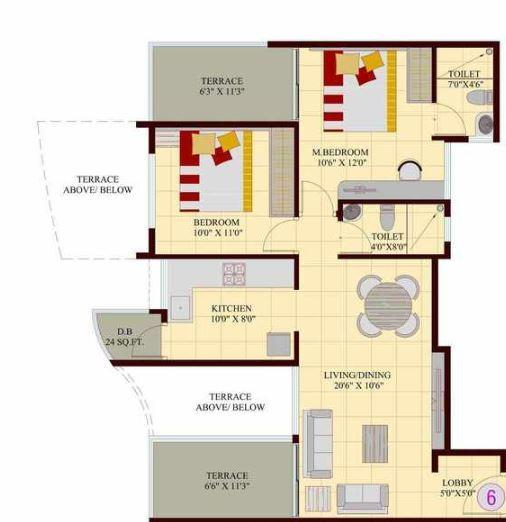 Vedant Kingston Atlantis, Pune - Floor Plan