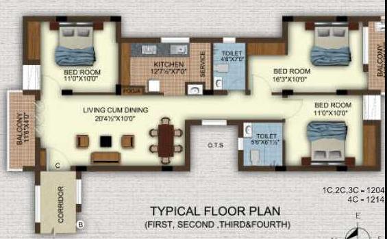 Universal Temple Bells, Chennai - Floor Plan