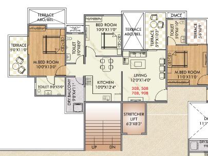 Keshav Leela Polaris, Pune - Floor Plan