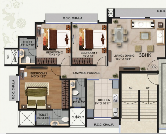 Rajhans Otium, Mumbai - Floor Plan