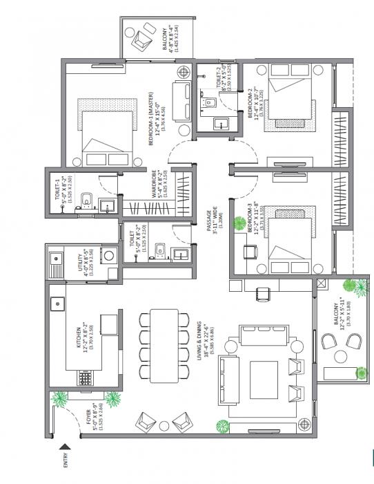 Assetz Marq, Bangalore - Floor Plan