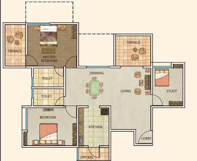 Atul Westernhills Apartment, Pune - Floor Plan
