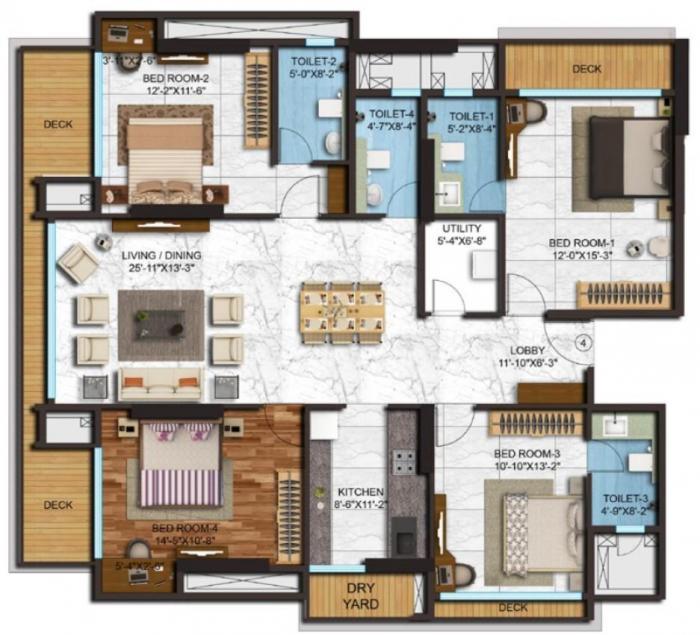 Adani Western Heights, Mumbai - Floor Plan
