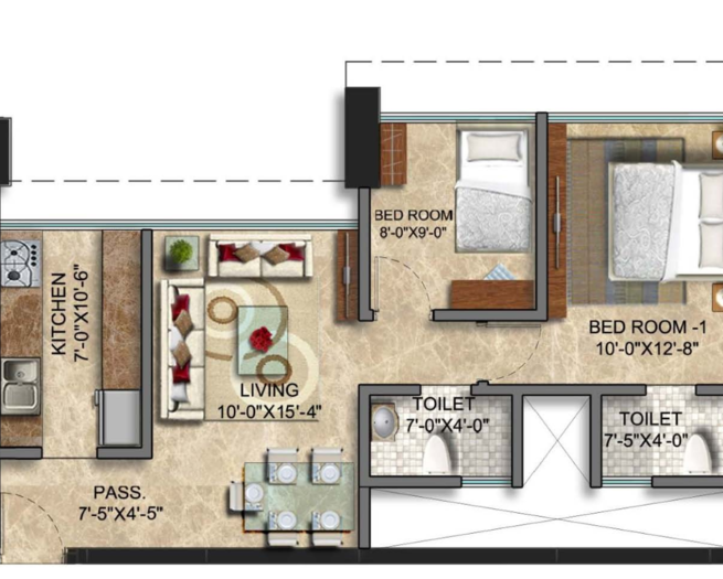 Sunteck City Avenue 1, Mumbai - Floor Plan