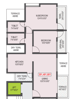 Saras Green Leaf, Pune - Floor Plan