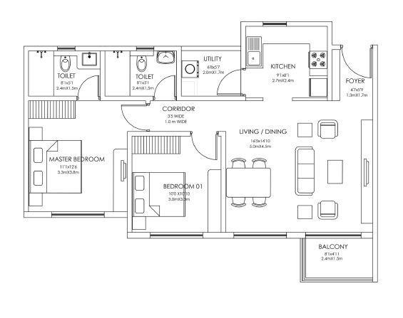 Godrej 24, Bangalore - Floor Plan