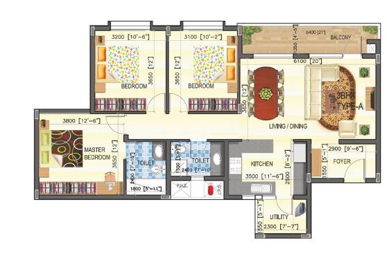 SJR WaterMark, Bangalore - Floor Plan