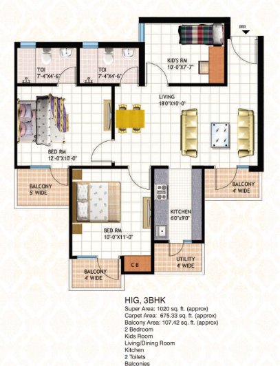 Mahagun Mascot Phase II, Ghaziabad - Floor Plan