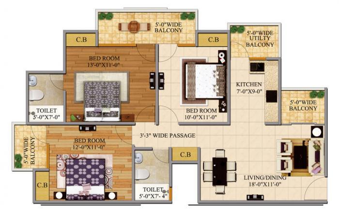 Bulland Elevates, GreaterNoida - Floor Plan