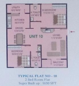 Akul Residency, Bangalore - Floor Plan