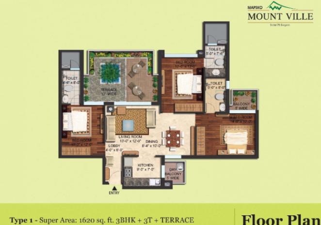 Mapsko Mount Ville, Gurgaon - Floor Plan