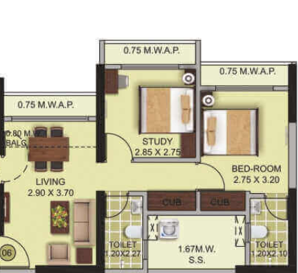 Tresora Grand Central, Thane - Floor Plan