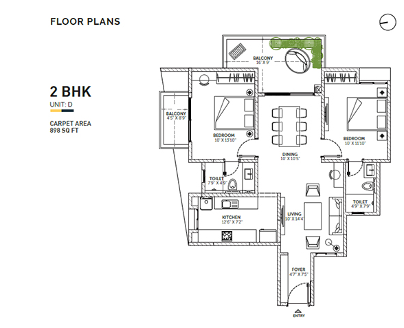 Asset Sun & Sanctum, Bangalore - Floor Plan