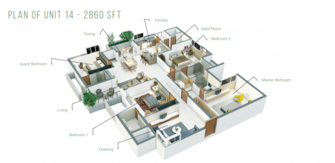 Manbhum Around The Grove, Hyderabad - Floor Plan