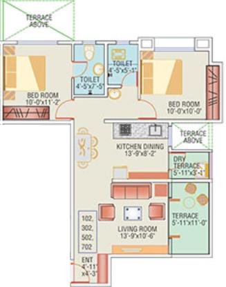 Anshul Aarush, Ahmednagar - Floor Plan