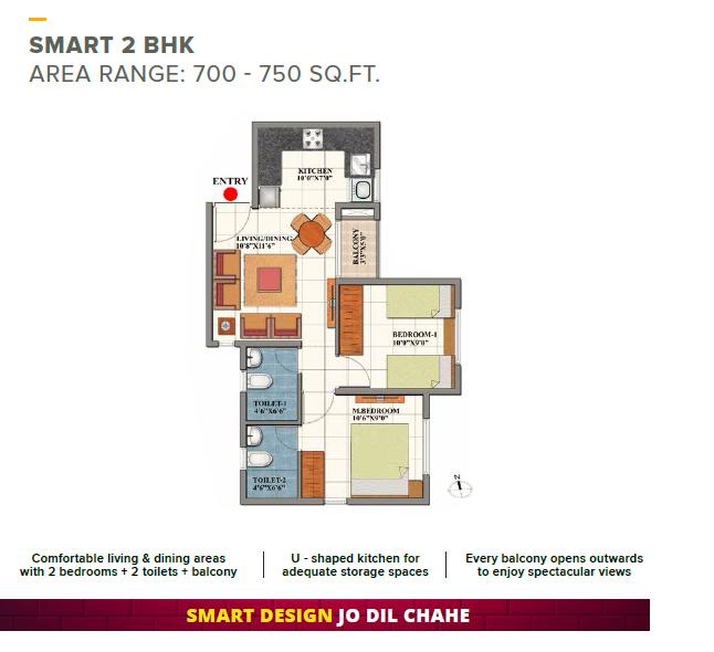 Shriram Codename Dil Chahta Hai, Bangalore - Floor Plan