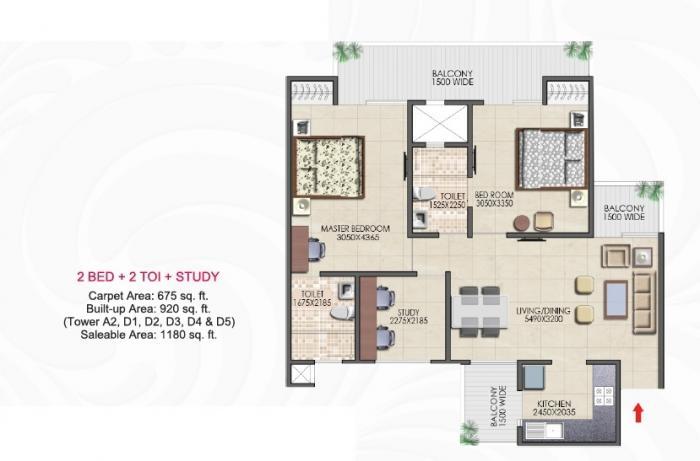 Nirala Aspire Phase I, GreaterNoida - Floor Plan