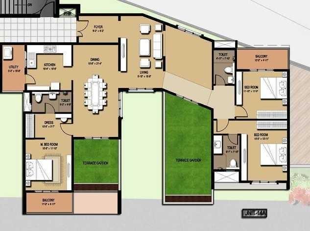 Mahaveer Greens, Bangalore - Floor Plan