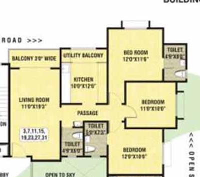 Naiknavare Dwarka Phase I, Pune - Floor Plan