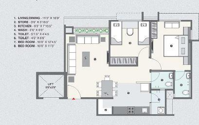 Armaan Nandanvan Heights, Ahmedabad - Floor Plan