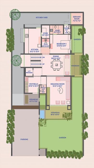 HN Safal Sky City Vernis, Ahmedabad - Floor Plan