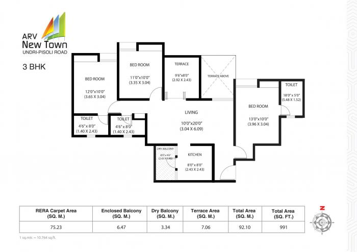 ARV New Town, Pune - Floor Plan