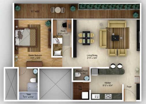 Amanora Gateway Towers, Pune - Floor Plan
