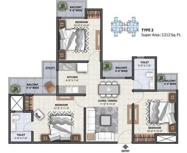 Miglani Mayfair Residency, GreaterNoida - Floor Plan