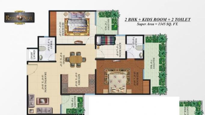 Omkar Royal Nest, GreaterNoida - Floor Plan