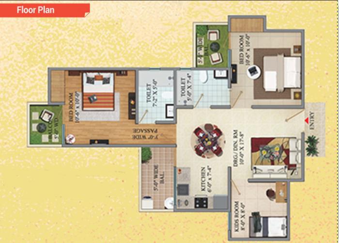 Migsun Green Mansion, GreaterNoida - Floor Plan