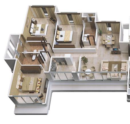 Fortune Avirahi Wing A, Mumbai - Floor Plan