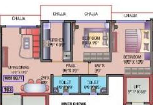 Heena Gokul Valley, Mumbai - Floor Plan